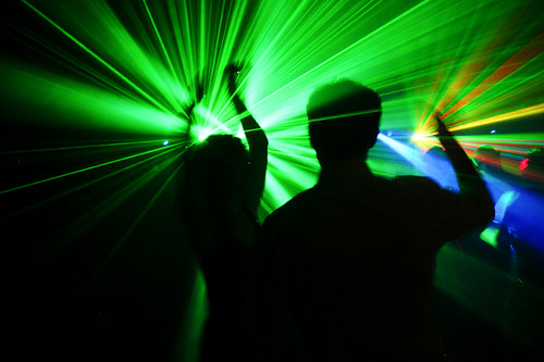 green laser dance | by MrLomo