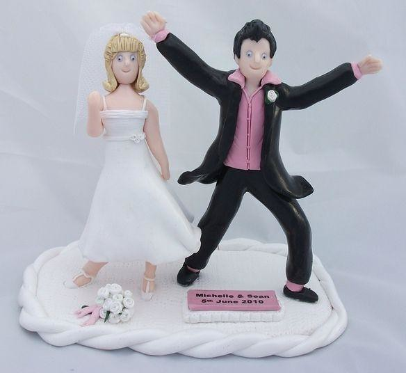 dancing couple wedding cake topper and groom grease cake toppers this 13328