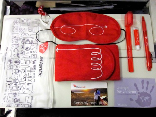 Virgin Atlantic Amenities Pack | by veganbackpacker