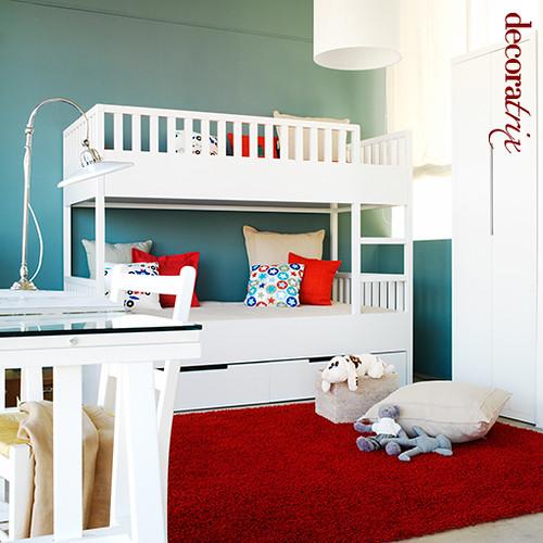 Una habitacion infantil con literas laqueadas 1 elegir - Habitacion con literas ...