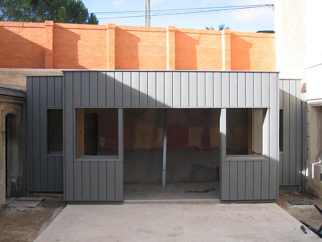 extension ossature bois bardage zinc renovation bardage zi flickr photo sharing. Black Bedroom Furniture Sets. Home Design Ideas