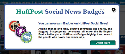 Huffington Post badges | by misterbisson