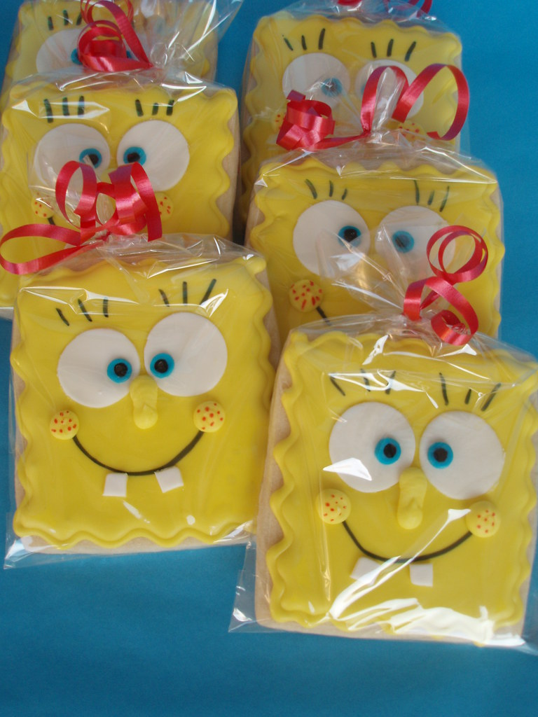 SpongeBob Cookies | I love how these cookies turned out ...