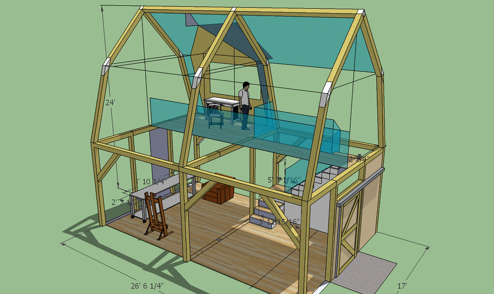 Timberframe Studio 10 Ceiling Gambrel Roof Coille Mor