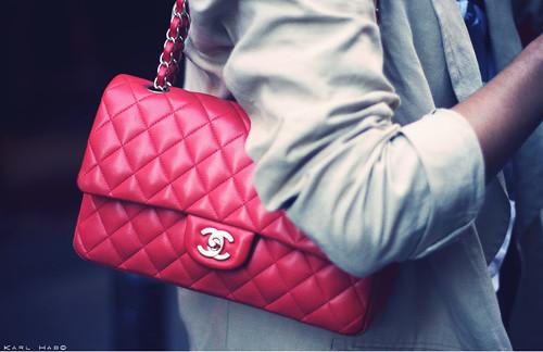 Красная лаковая сумка в стиле chanel, цена - 349 грн