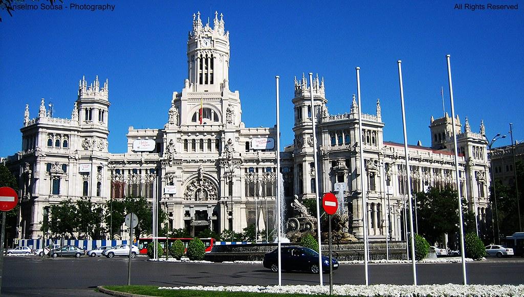 All Sizes Espanha Madrid Praça Cibelios Palácio Das