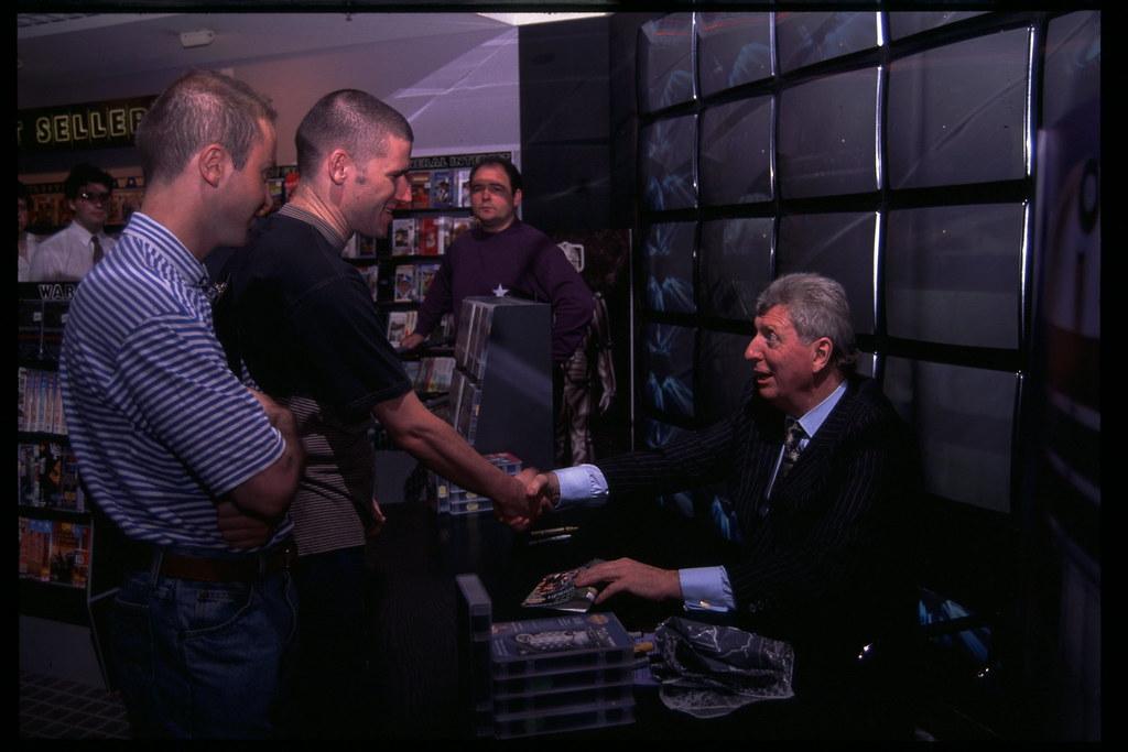76e5586237e450 ... Doctor Who Tom Baker signing at hmv 150 Oxford Street