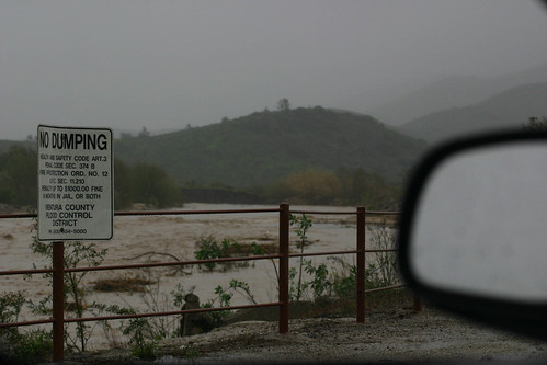 Calleguas Creek Swells due to heavy rain | by California State University Channel Islands
