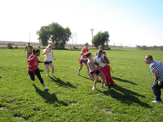 Students Playing a Game of Flag Football | by California State University Channel Islands