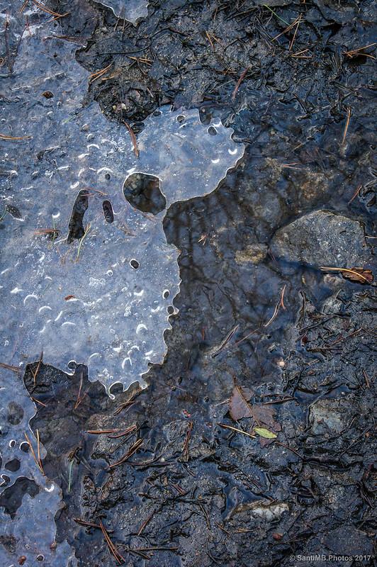 Placa de hielo en la pista del Bosc de Carboners