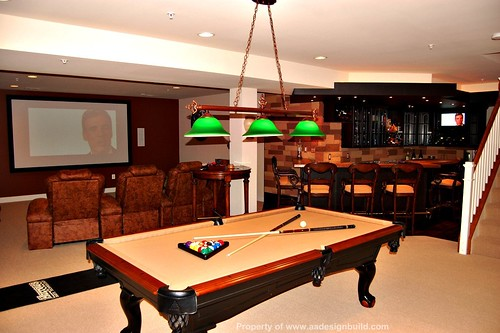 A a design build remodeling finish flickr - Pool table house ...