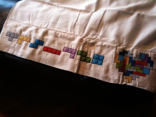 My sister made me a tetris pillowcase! | by JoelJohnson