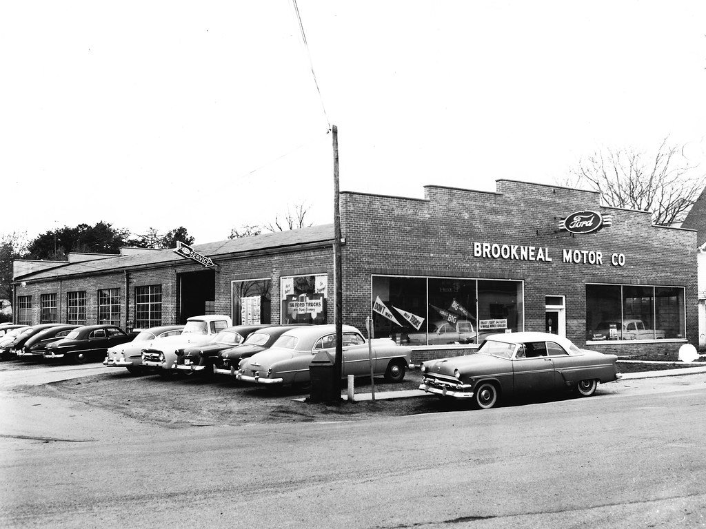 Brookneal Motor Co Ford Brookneal Va 1956 Bill Cook