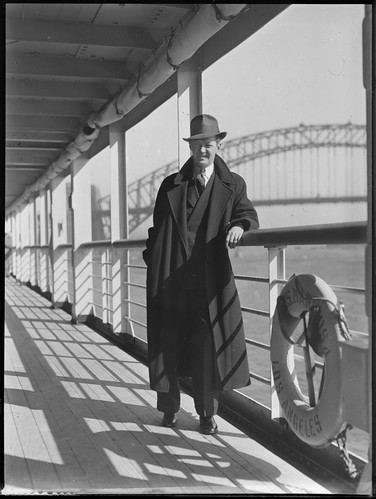 Man on board the SS Mariposa in Sydney Harbour | by Powerhouse Museum Collection