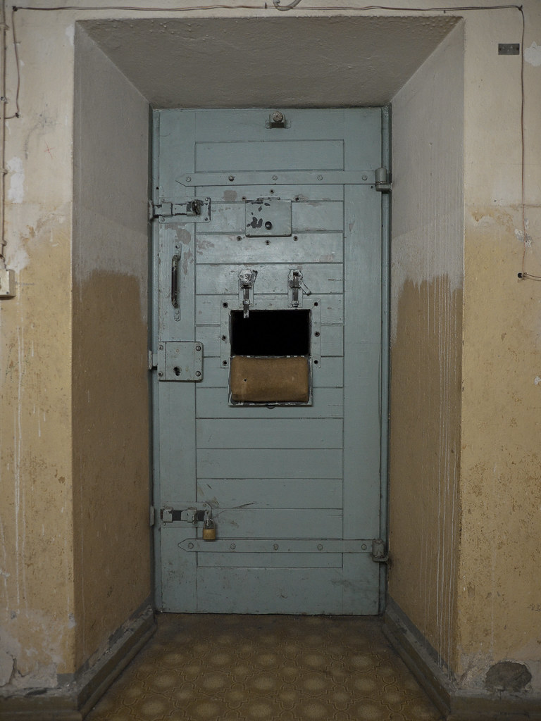 Cell Door | by cbmd Cell Door | by cbmd & Cell Door | Two cells in the basement have padding along the\u2026 | Flickr