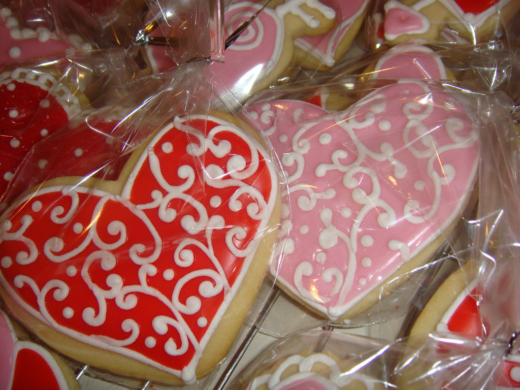 Valentine Cookies | These are heart shaped sugar cookies wit… | Flickr