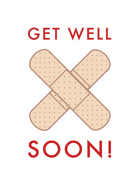 get well soon boo boo bandages get well card by man vs flickr