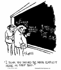 Then-a-miracle-occurs-cartoon | by The Skepticalist