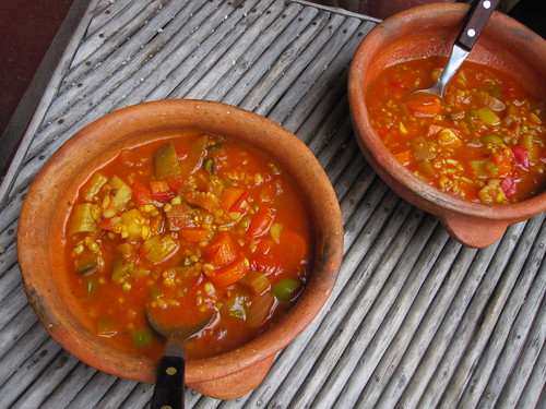 Hostel Made Vegetable Soup | by veganbackpacker