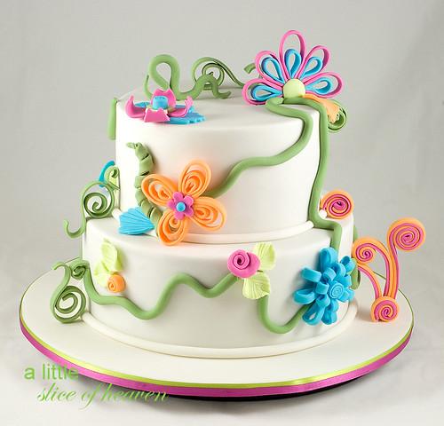 Butterfly Garden Birthday Cake