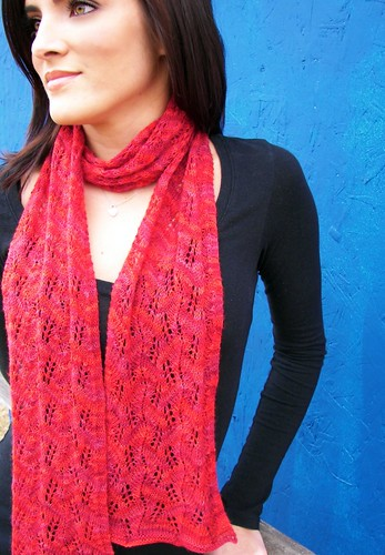 Leaf Lace Scarf II | by Twisted Knitter