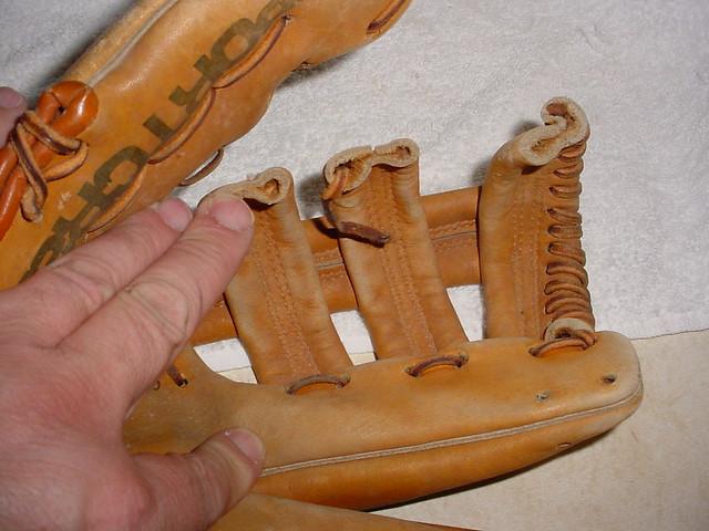 Baseball Glove Repair : Sportcraft xbh baseball glove repair before the lacing