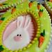 Peek-a-boo bunny Raspberry Buttercream Shortbread sandwich cookie