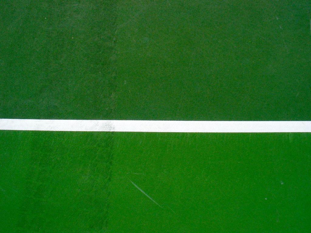 White line tennis