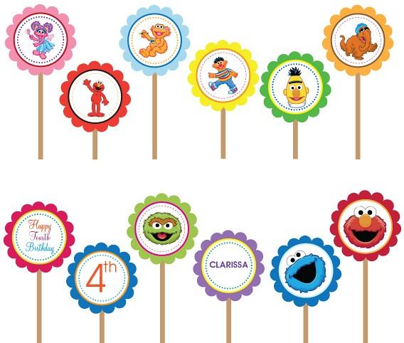 Sesame Street Elmo Cookie Monster Printable Diy Custom Pa