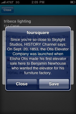What the History Channel is doing on @foursquare is pretty awesome... | by dpstyles™