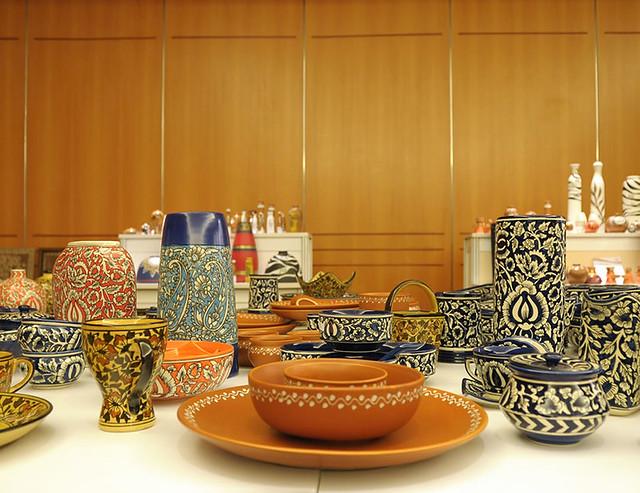 Blue Pottery Terracotta Vases Plates And Bowls Kala Tarang Flickr