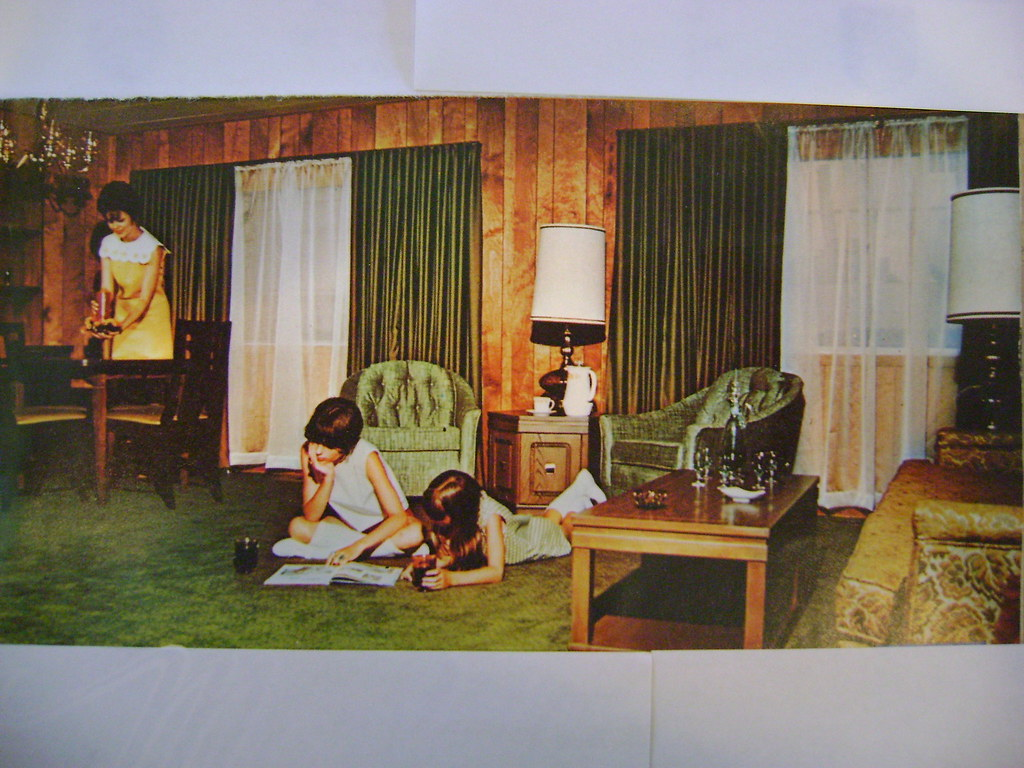 Mobile home interior 1968 my house looked exactly like for Interior design 70s house