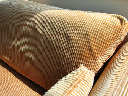how to clean corduroy sofa