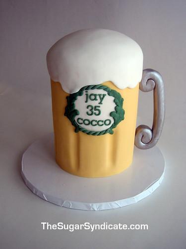how to make a 3d beer mug cake