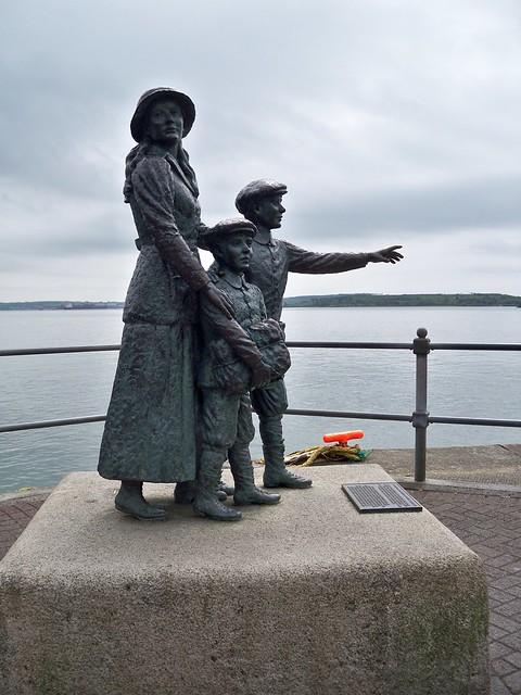 Annie Moore statue Cobh Co. Cork