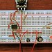 Intervalometer LIM on breadboard (detail)