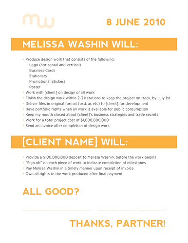 Freelance Design Contract Example This Is An Example Of