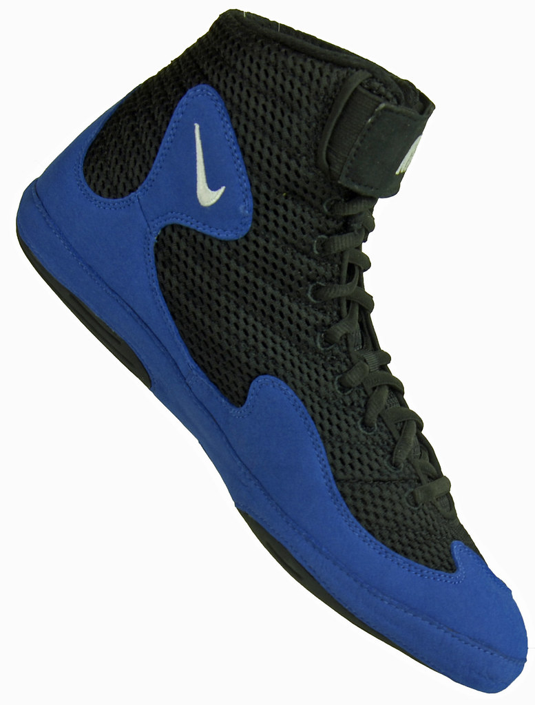 Nike Inflict Blue And Black Wrestling Shoes