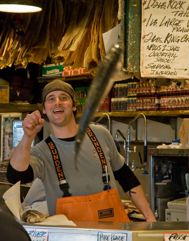 Flying fish pike place fish has a tradition of throwing for Flying fish seattle