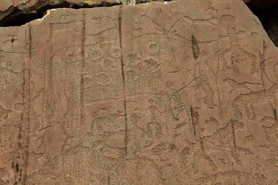 Petroglyphs (Kalbak-Tash, Altai, Russia) 04