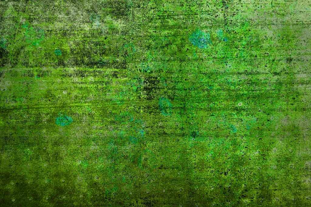 grungy green metal