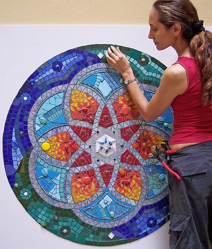 Mandala fj mosaic art fernanda jaton flickr for Mosaic painting meaning