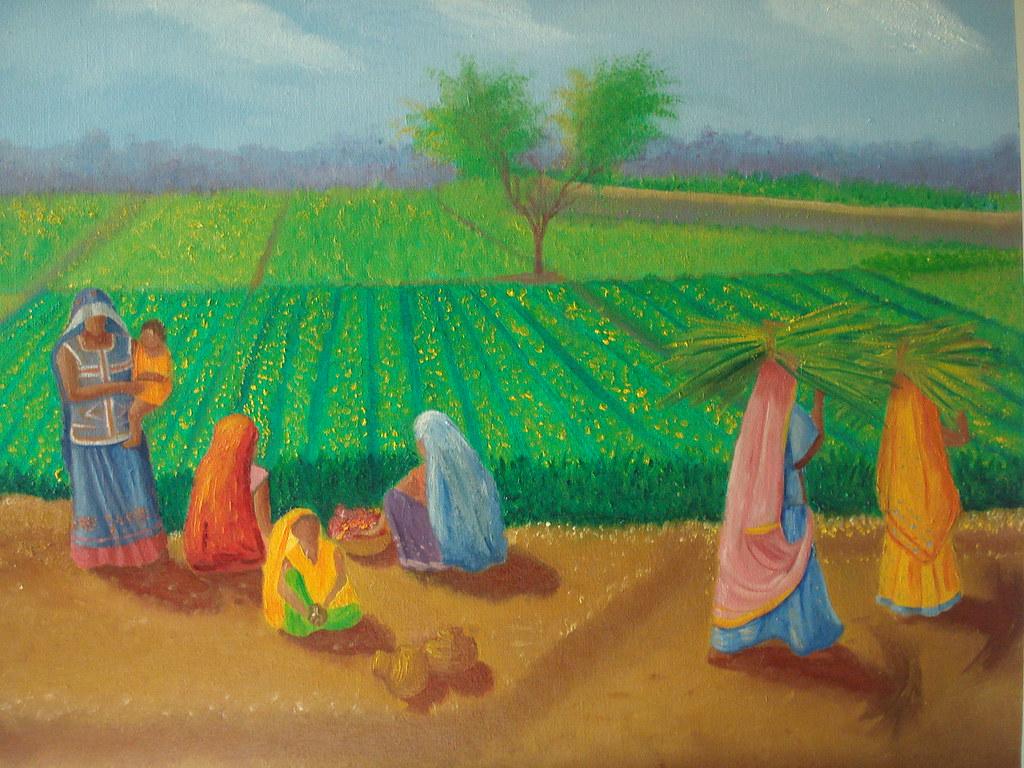 Village Life Paintings Easy Village life | series ...