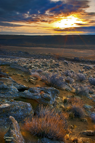 Sunrise over the high desert of south Idaho | by The Knowles Gallery
