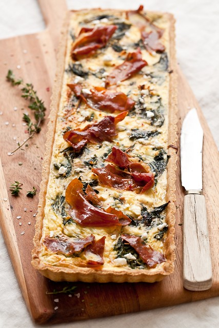 Gluten Free Swiss Chard, Goat Cheese and Prosciutto Tart | Flickr