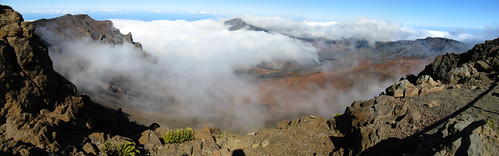 Clouds on the Haleakala Summit Panoramic, Maui, Hawaii | by Mastery of Maps