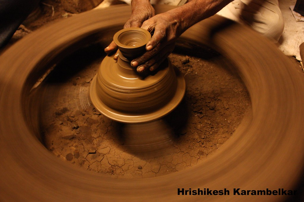 Indian Pottery The Art Of Handling Of Clay Called