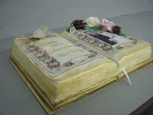 book wedding cake 50th wedding anniversary book cake the who ordered 12094