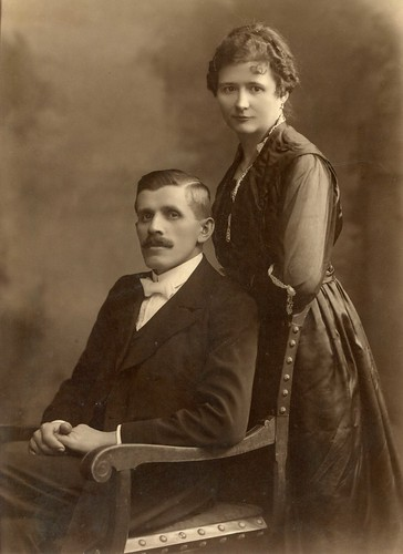 1913. Grandfather's sister, Adél and her husband. Newlyweds | by elinor04 thanks for 28,000,000+ views!