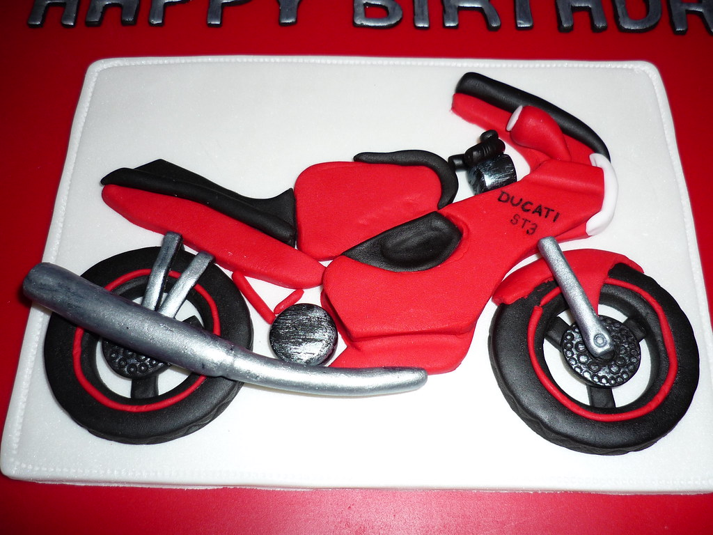 Motorcycle Birthday Cake Mould